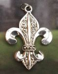 Ornate Fleur De Lis - Medium Jewelry Pendant