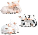 Pig Couples - Set of 3 Statues