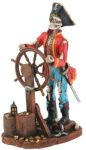Pirate Captain At The Helm Statue