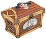 Pirate Captain Chest Hinge Jewelry Box