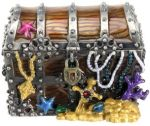 Pirate Chest Jeweled Box