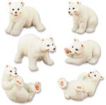 Polar Bears - Set Of 6 Figurine Statues