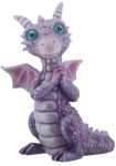 Purple And Pink Baby Dragon Statue