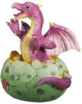 Purple Dragon Hatching Figurine Statue