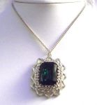 Queen Eleanor Emerald Vintage Style Necklace