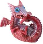 Red Baby Dragon Statue