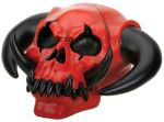 Red Demon Skull Statue