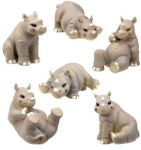 Rhino Statues (Set of 6)