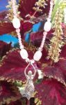 Rose Quartz Spiral Goddess Necklace