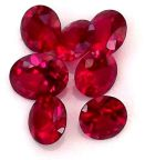 Ruby (lab Created) Faceted Gemstone