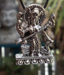 Saraswati, Goddess Of The Arts Jewelry Pendant