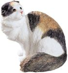 Scottish Fold Longhair Cat Figurine Statue