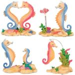 Sea Horses - Set Of 4 Figurine Statues