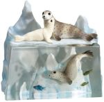 Seal & Sea Lions On Ice Figurine Statues