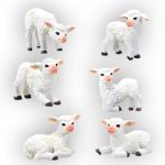 Sheep - Set Of 6 Figurine Statues