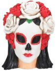 Black and White Woman Skull Statue