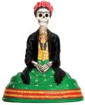 Day Of The Dead Frida Skeleton Statue