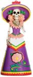 Skeleton Statues Day Of The Dead Purple Senorita Statue
