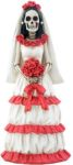 Day of the Dead Red And White Skeleton Bride Statue