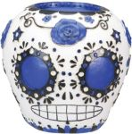 Day Of The Dead Sugar Skull - Blue Statue