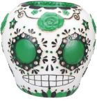 Day Of The Dead Sugar Skull - Green Statue