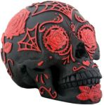 Day of the Dead Tattoo Sugar Skull Red/black Statue