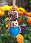 Small Cleopatra Profile Gemstone Jewelry Pendant