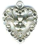 Small Flower Heart Jewelry Pendant