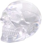 Small Translucent Skull Figurine