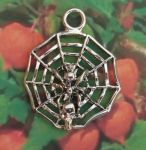 Medium Spider In Web Jewelry Pendant