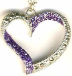 Sweetheart Glitter Heart Necklace