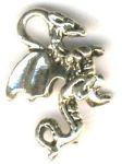 Tiny 3-d Dragon Celtic Jewelry Pendant