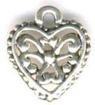 Tiny Filigree Heart Jewelry Pendant