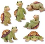 Turtles - Set Of 6 Figurine Statues