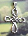 Celtic Jewelry - Twisted Celtic Knot Cross Pendant