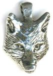 Wolfs Head Jewelry Pendant